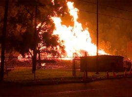 Пожар на складе Jim Beam в США уничтожил 45 тыс. бочек бурбона